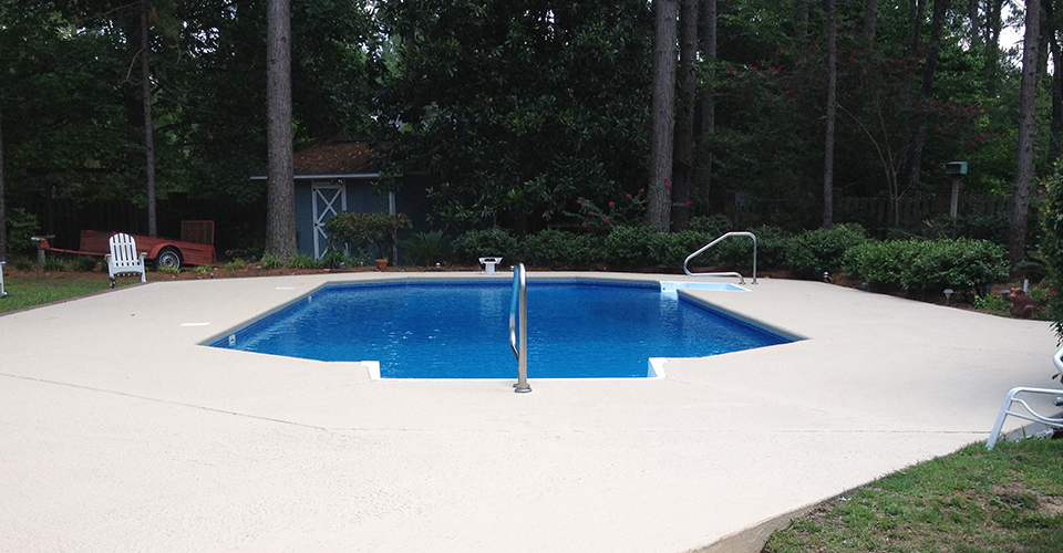 Spray Decking For Pools In Sumter Sc Pelican Pool Service